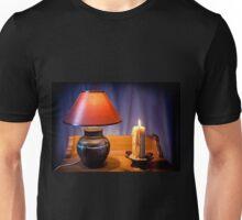 night light lamp and burning candle Unisex T-Shirt