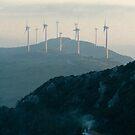 Windmills and woodsmoke by Liza Kirwan