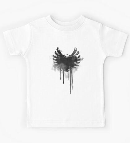 Grunge Heart & Wings  Kids Tee