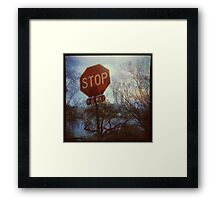 Flood Warning Framed Print