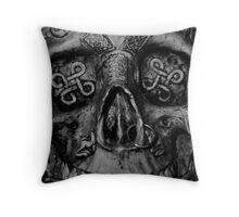 portrait of a celtic warrior  Throw Pillow