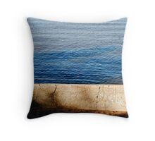 sea wall Throw Pillow