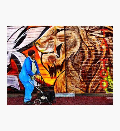 Urban Street scene Photographic Print
