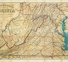 Map of the State of Virginia (1862) by allhistory