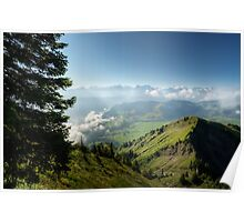 View from the Stanserhorn on Lake Lucerne Poster