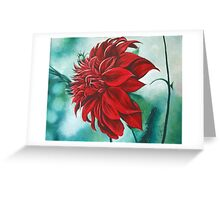 Red in Fury Greeting Card
