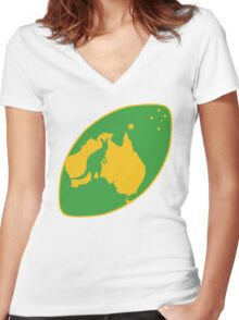 Aussie Rugby Women's Fitted V-Neck T-Shirt