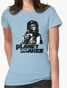 Planet of the Remakes Womens Fitted T-Shirt