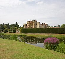 Hever Castle with Topiary at the front by Keith Larby