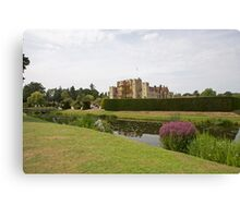 Hever Castle with Topiary at the front Canvas Print