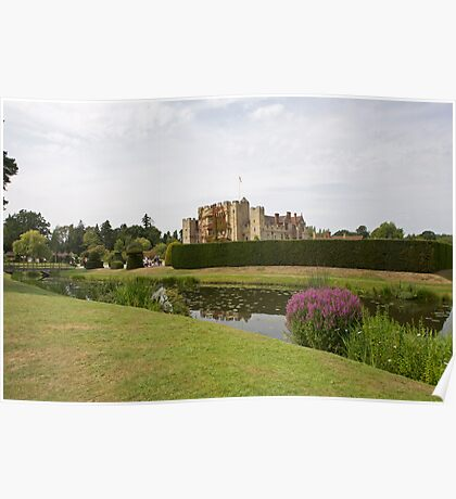 Hever Castle with Topiary at the front Poster
