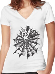 The Black Widow Women's Fitted V-Neck T-Shirt