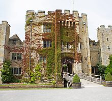 Hever castle from the front. by Keith Larby