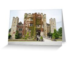 Hever castle from the front. Greeting Card