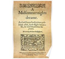 Shakespeare, A midsummer night's dream 1600 Poster