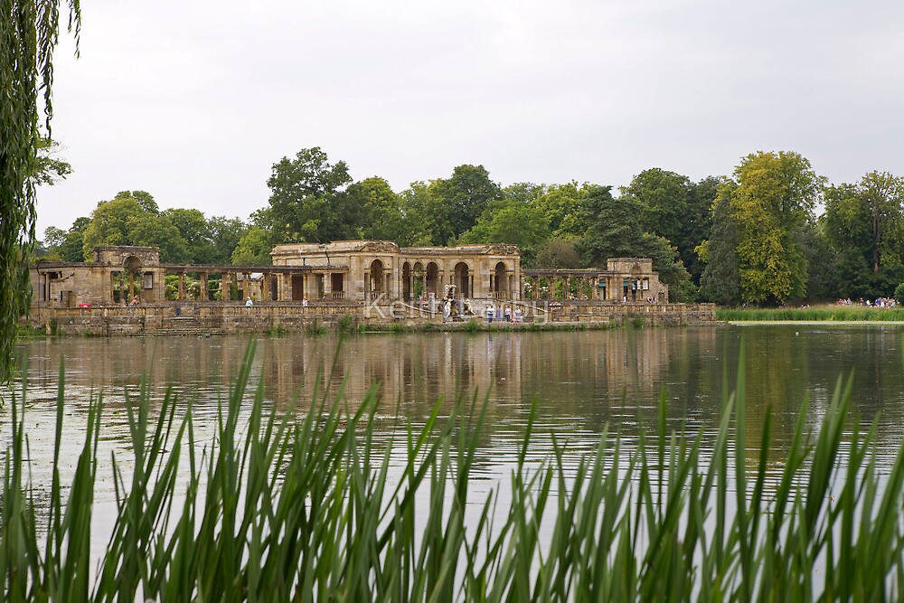 A view across the lake at Hever castle by Keith Larby