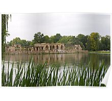A view across the lake at Hever castle Poster