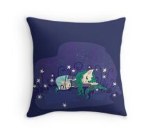 Sleeping in the star meadow... Throw Pillow
