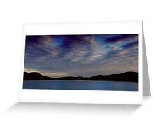 Setting sail on the sunset sea Greeting Card