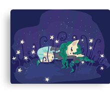 Sleeping in the star meadow... Canvas Print