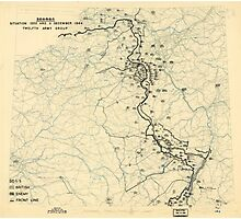 World War II Twelfth Army Group Situation Map December 11 1944 Photographic Print