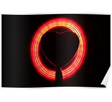 Hearts Slow Shutter Speed Poster