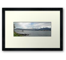 Hobart Town from the Eastern Shore Framed Print