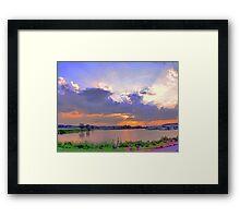 Lake Eufaula Sunset Framed Print