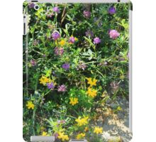 Purple and Yellow Wildflowers iPad Case/Skin