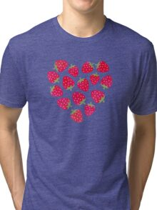 Strawberries and Chocolate Tri-blend T-Shirt
