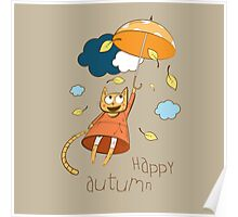 Happy autumn. Poster