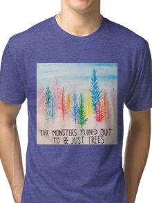 Out of the Woods Trees Tri-blend T-Shirt