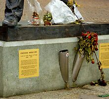 Foot of Freddie Mercury by Charmiene Maxwell-batten