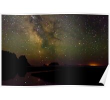 Milky Way from Olympic Coast Poster