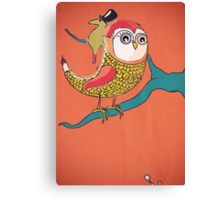 Awful Owly Thriller Canvas Print