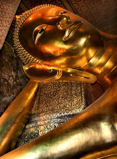 The Reclining Buddha, Wat Pho, Bangkok, Thailand  by Carole-Anne
