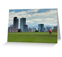 Skyline over the green Greeting Card