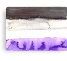 Asexual pride flag Canvas Print