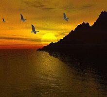 A Quiet Sunset by Norma Jean Lipert