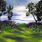 A Stroll in the Garden by Norma Jean Lipert
