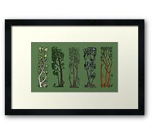 Five Trees/Green Framed Print