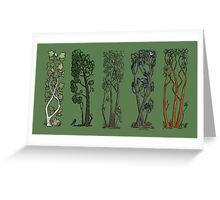 Five Trees/Green Greeting Card