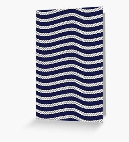 Nautical Braid in Navy and White Greeting Card