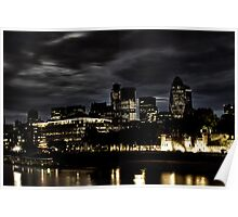 The Hidden Darkness of the financial district in london Poster