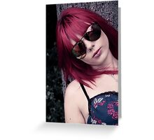 Red Haired Rage Greeting Card