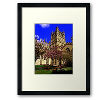 Exeter Cathedral Cafe Framed Print