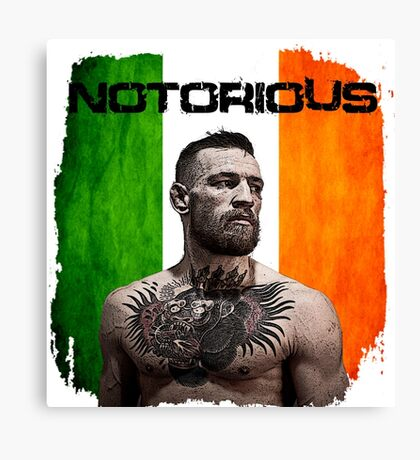 """The Notorious"" Conor McGregor UFC Canvas Print"