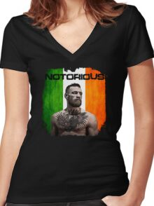 """""""The Notorious"""" Conor McGregor UFC Women's Fitted V-Neck T-Shirt"""
