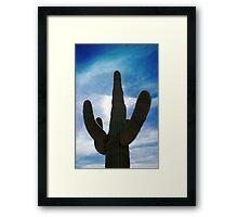 Saugaro Cactus Framed Print