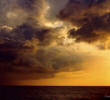 Clouds over the Gulf of Mexico 2..... by DaveHrusecky